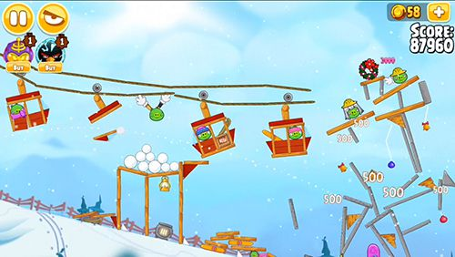 Angry birds. Seasons: Ski or squeal for iPhone
