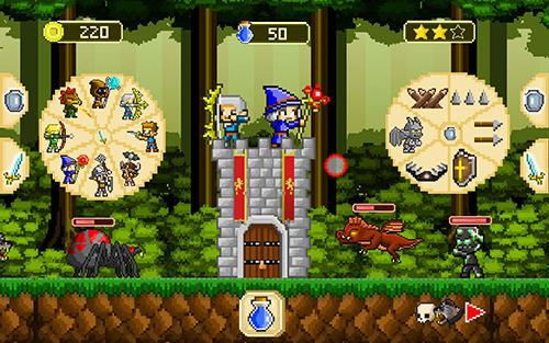 Turmabwehr-Spiele Retro defenders: Towers' war auf Deutsch