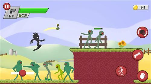 Stickman zombie shooter: Epic stickman games скріншот 1