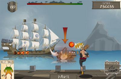 Piraten : Belagerung mit Kanonen auf Deutsch