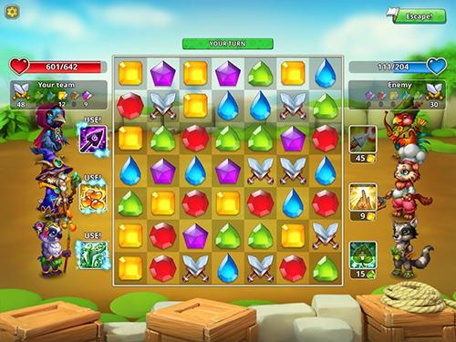 Pet heroes: Puzzle adventure für Android