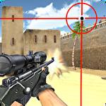 Sniper shooting. Killer. Symbol