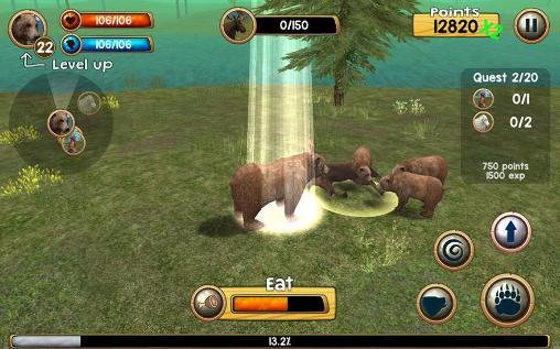 Wild bear simulator 3D capture d'écran