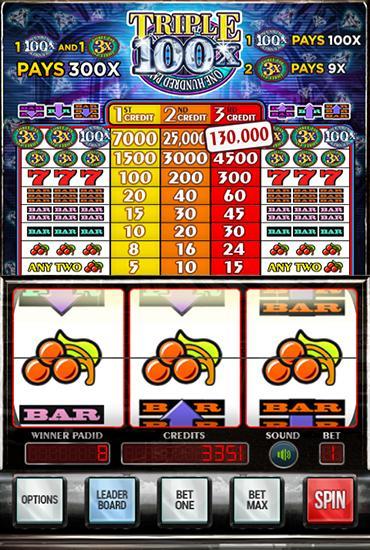 Triple diamonds 100x slots скриншот 4