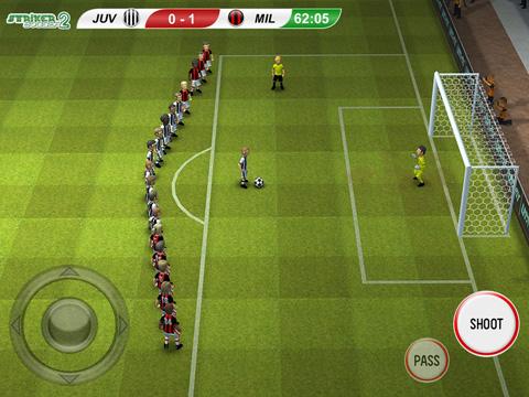 Captura de pantalla El delantero de fútbol 2 en iPhone