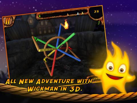 Screenshot Brenne das Seil an 3D auf dem iPhone