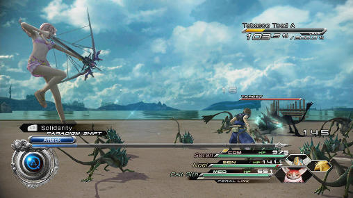 Online games Final fantasy 13-2 in English