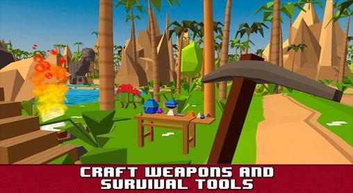 Pixel art games Jurassic island: Survival simulator in English