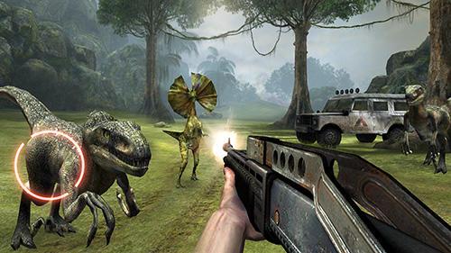 Dino VR shooter: Dinosaur hunter jurassic island для Android