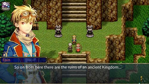 Pixel art RPG Onigo hunter in English
