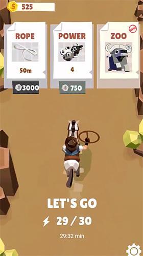 Arcade-Spiele Cowboy GO!: Catch giant animals für das Smartphone