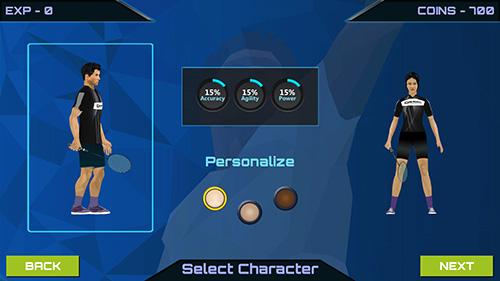 Sport 3D pro badminton challenge für das Smartphone