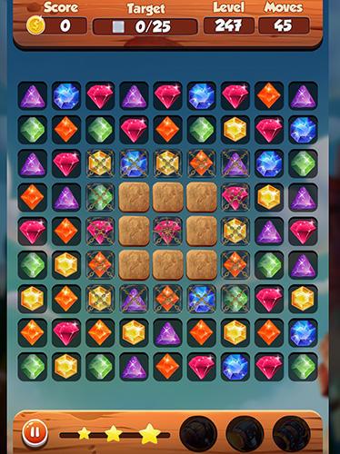3 Gewinnt-Spiele Puzzle king matchs: King's jewerly auf Deutsch