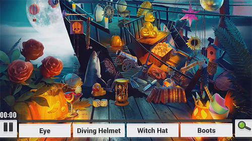 Hidden objects. Halloween games: Haunted holiday für Android