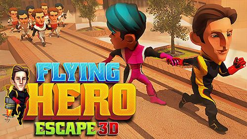Flying hero escape 3D Symbol