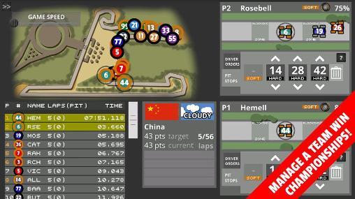 Sport Fastest lap racing: Manager pro für das Smartphone