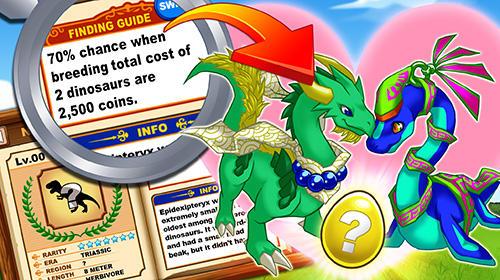 Online Jurassic story dinosaur world für das Smartphone