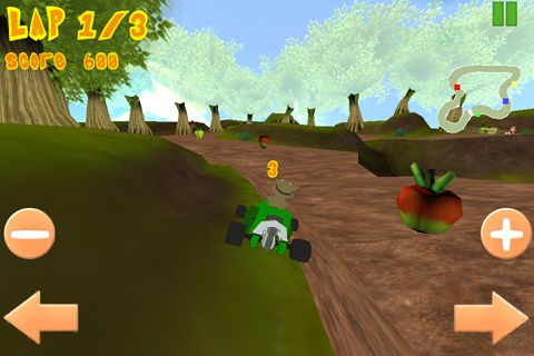 Screenshot Looney Kart auf dem iPhone