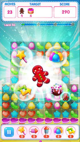 Arcade-Spiele Sweet match 3 für das Smartphone