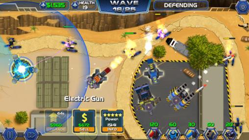 Tower defense: Robot wars für Android