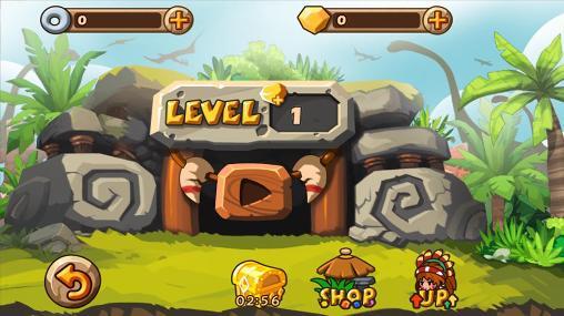 Juegos de arcade Caveman vs dino para teléfono inteligente
