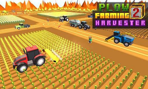 Blocky plow farming harvester 2 capture d'écran 1
