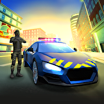 Police agent vs mafia driver Symbol
