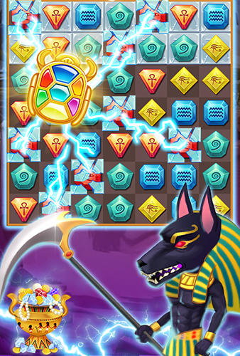 Egypt jewels: Gems match 3 digger für Android