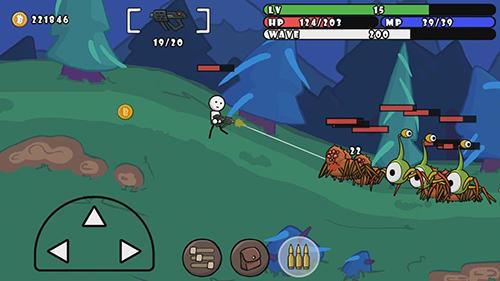 Strichmännchen-Spiele One gun: Stickman auf Deutsch
