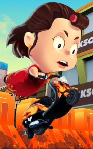 Arcade-Spiele Crazy mom racing adventure. Emak-Emak matic: The queen of the street für das Smartphone