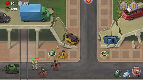 Turmabwehr Zombie town defense auf Deutsch