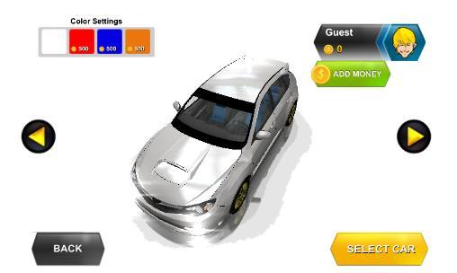 Simulator-Spiele Perfect racer: Car driving für das Smartphone