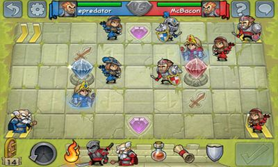 Turn-based strategy games Hero Academy for smartphone