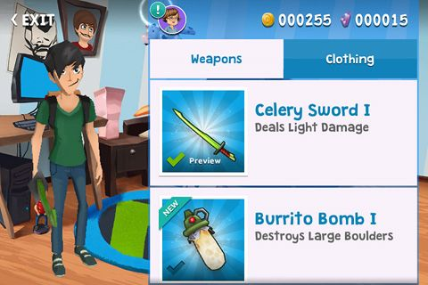 Arcade-Spiele: Lade Smosh: Essensschlacht. Das Spiel auf dein Handy herunter