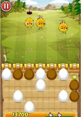 Screenshot Eier gegen Hühner auf dem iPhone