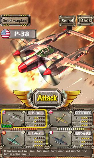 Lighting fighter raid: Air fighter war 1949 скріншот 1