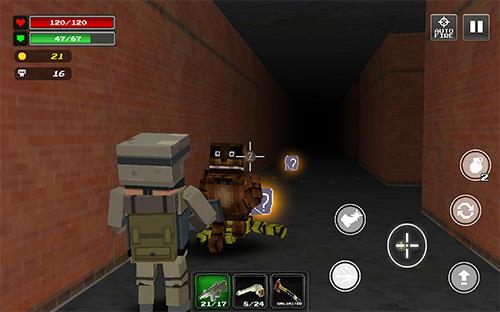 Actionspiele Pixel Z world: Last hunter für das Smartphone