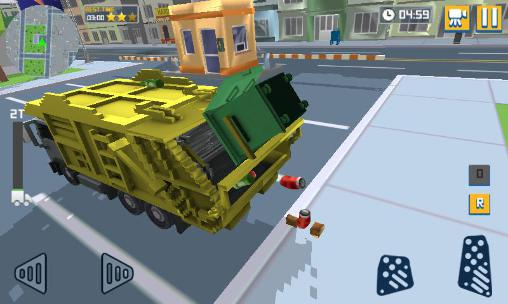 Blocky garbage truck sim pro for Android