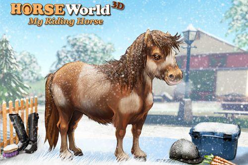 logo Mundo 3D de caballos: Equitación. Edición de Navidad