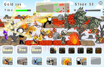: descargar Guerras de garabatos 5: Stickmen contra Zombies para iPhone