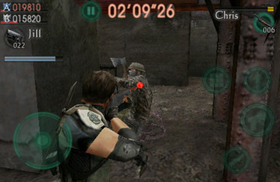 Screenshot Resident Evil gegen Söldner auf dem iPhone