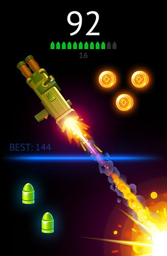Arcade Flip the gun: Simulator game für das Smartphone