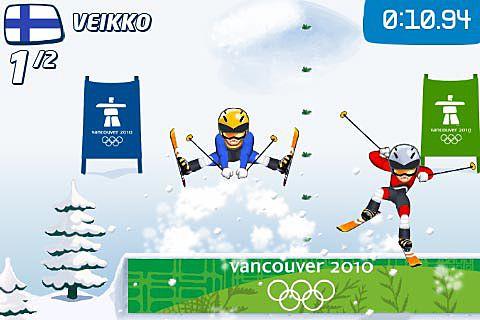 Screenshot Vancouver 2010: Offizielles Spiel der Olympischen Winterspiele auf dem iPhone