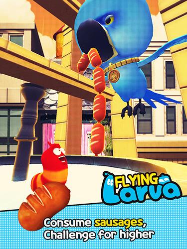 Arcade-Spiele Flying larva für das Smartphone