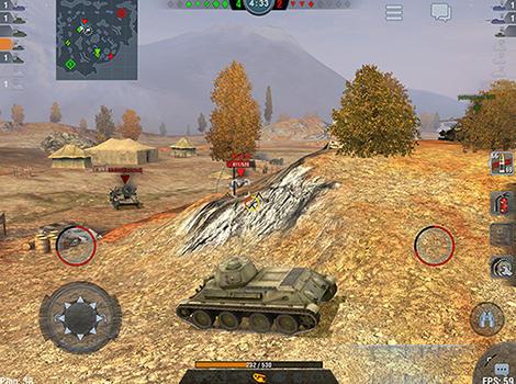 Actionspiele World of tanks: Blitz für das Smartphone