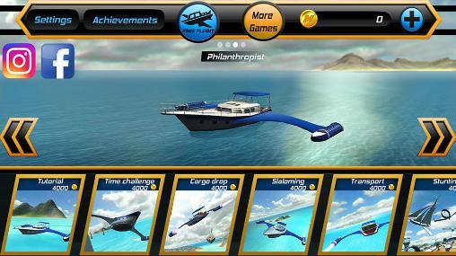 Spiele mit Schiffen Game of flying: Cruise ship 3D auf Deutsch