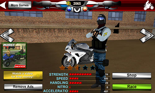 Police motorcycle crime sim for Android