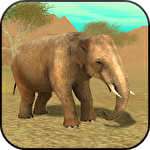 Wild elephant simulator 3D icône