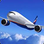 Plane simulator 3D icono