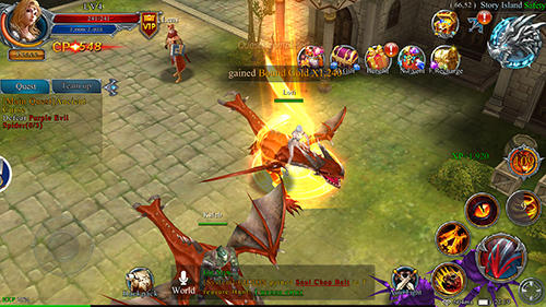 Strategy RPG games Sky realm in English